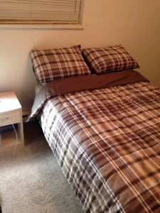 Double mattress and EVERYTHING needed for a 1bedroom apartment