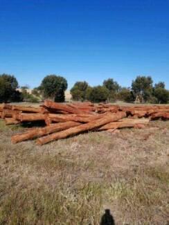Jarrah poles