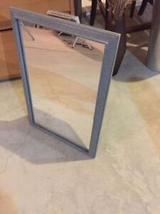 Handmade mirror, in vintage textured grey $ 20