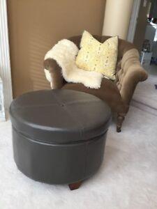 New Modern Grey Storage Ottoman Brand New Condition