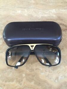 New Louis Vuitton Evidence Sunglasses Black and Gold