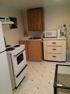 One bedroom furnished apartment one block from Dalhousie