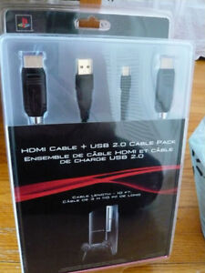 PS3 Gold plated HDMI and mini usb cable (Brand New)