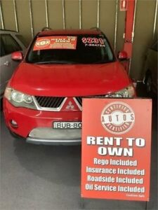 2006 Mitsubishi Outlander ZG XLS Red 6 Speed CVT Auto Sequential Wagon Liverpool Liverpool Area Preview