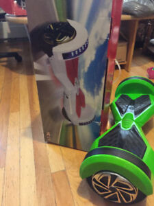-Hoover Bord/ Balancing Scooter GOLD GREEN BRAND NEW=300