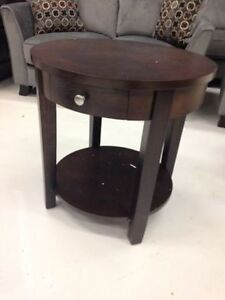 Brand new end tables espresso ,charcoal grey and white available