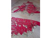 Red and Gold Belly Dancer Costume