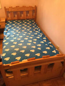 childs solid wood bed