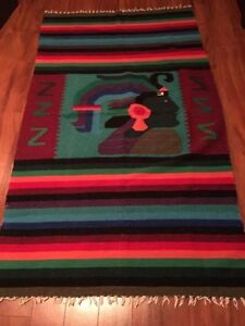 Mexican Aztec blanket from Mexico - MUST GO!