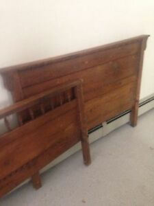Antique Oak Bed