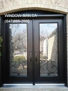 Wrought Iron Front Door  modern or traditional Design