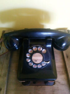 Art Deco Rotary Pyramid Desk Telephone Western Electric Model302