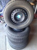 GOODYEAR NORDIC 205 65 R15 WINTER TIRES ON RIMS