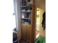 IKEA Billy bookshelf bookcase with doors (x 2) (OAK finish)