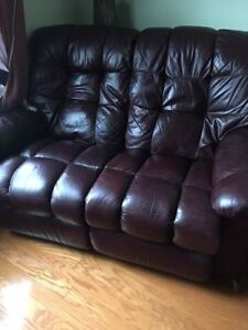 Leather Recliner Coach in Great Condition