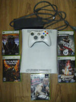 Xbox 360 with 5 games for sale