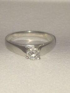 14 kt Gold 0.34 C.T. Diamond Solitaire Engagement Ring St. John's Newfoundland image 4