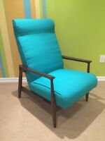 Vintage mid century walnut (not teak) lounge chair