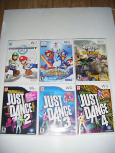 6 Wii Games for sale...