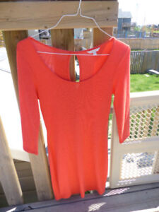 Price REDUCED: Cute Guess Coral Red Sweater Dress! Worn Once!