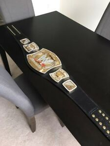 *$650* WWE CHAMPIONSHIP REPLICA REAL LEATHER TITLE BELT