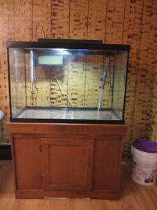 65 gallons aquarium--(fish,poisson,tank)