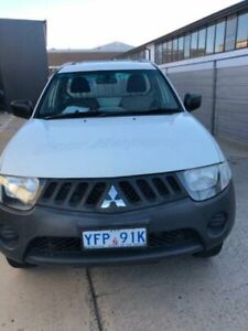 2008 Mitsubishi Triton ML MY08 GLX White 4 Speed Automatic Cab Chassis Fyshwick South Canberra Preview