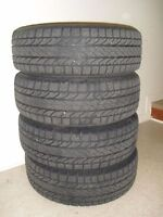 205/65/R15 winter tires on steel rims for sale