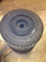 5 bolt snow tires with rims 215/70/15