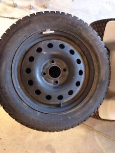 15 inch winter tires for sale- used Kitchener / Waterloo Kitchener Area image 4