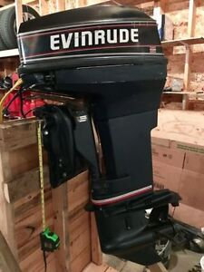 1993 Evinrude 40 Long Shaft w/Controls and Steering