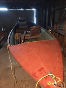boat and motors and steel gas tank