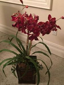 """Moving sale"" artificial floral (orchid) with pot"