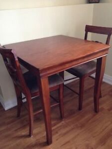 Pub Style Table with 2 chairs Cambridge Kitchener Area image 1
