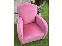 Small bedroom arm chair ideal for reupholstering