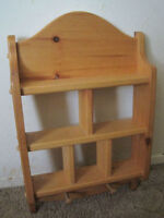 "Wood shelf just $20! In great condition.  Approximately 21"" H x"