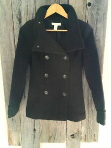 Pea Coat, Fall Jacket, Winter Coat, Faux Leather * New Condition