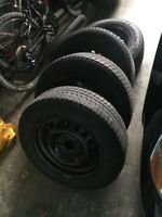 Michelin 215/60R16 Winter Tires On 5-110mm Steel Rims With TPMS