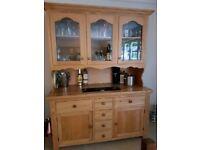 Medium Solid Oak Three Door Dresser