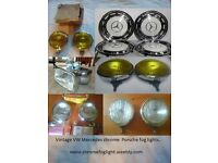 Vintage Chrome Bosch Hella fog lights VW porsche Mercedes
