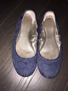 Coach Shoes flats navy blue