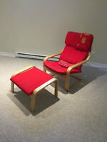 RED Ike Chair with footrest
