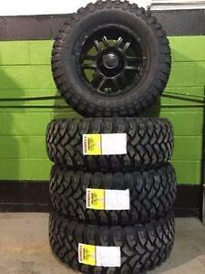 """Ford F-150 33"""" Off-road Rim & Tire Package - LT 285/70/17 (33"""") Ginell Mud Pro tires on satin black ION 187 alloy rims"""
