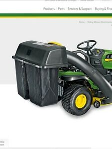 John Deere grass catcher, not the tractor