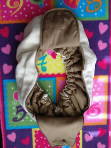 Beige/Brown Reversible Infant Car Seat Cover London Ontario image 2