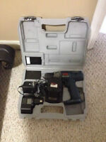 Ryobi cordless drill, battery packs, charger and case