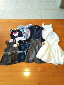 Girl Dresses (All Size 2T except 1 Jean Size 3T).