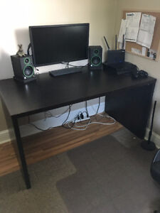 Ikea Desk - sturdy, functional - dark finish