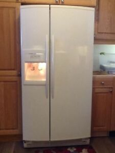 White Refrigerator with Ice & Water Dispenser - Great Condition!