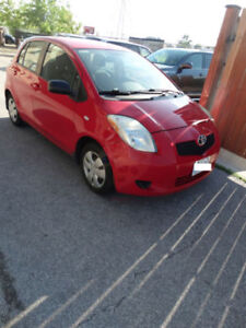 2007 Toyota Yaris LE 4dr hatchback red- $3200 SAFETY INCLUDED